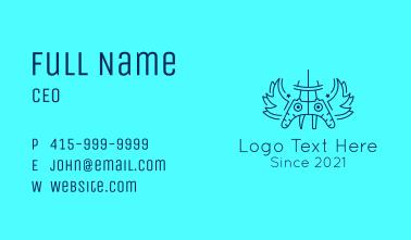 Line Art Controller  Business Card