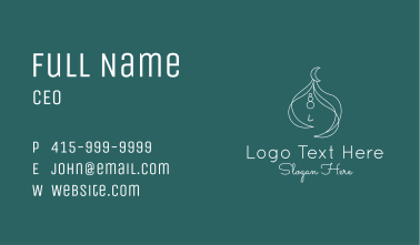 Fancy Girl Muslim Turban Business Card