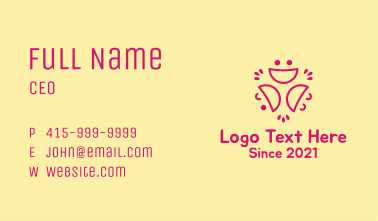 Smiley Faces Line Art Business Card