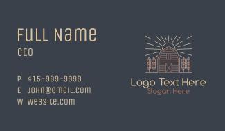 Monoline Wheat Barn Business Card