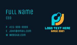 Technology Letter P & J Business Card