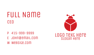 Red Chart Bug Business Card