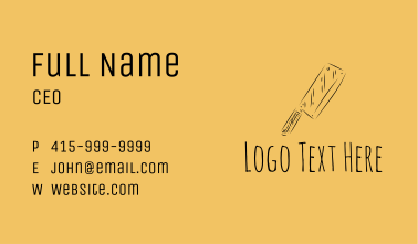 Kitchen Cleaver Knife Business Card