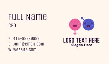 Gender Identity Emojis Business Card