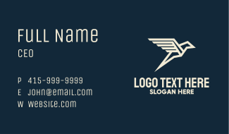 Geometric Flying Bird Business Card