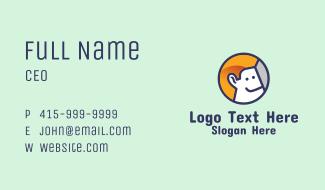 Smiling Man Avatar Business Card