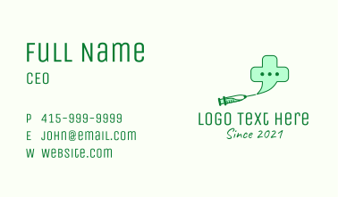 Medicinal Vaccine Chat  Business Card