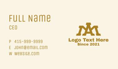 A & M Monogram Crown Business Card