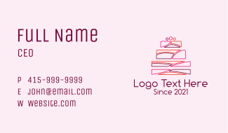 Multicolor Wedding Cake  Business Card