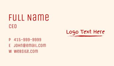 Paint Wordmark  Business Card