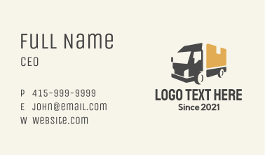Parcel Truck Logistics Business Card