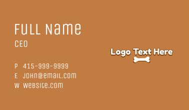 Pet Shop Wordmark Business Card
