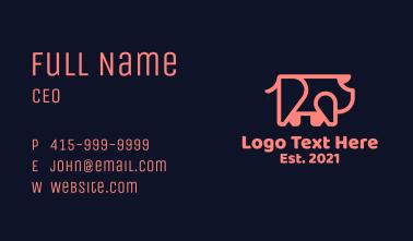 Simple Geometric Pig Business Card