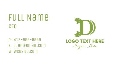 Green D Leaf Business Card