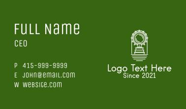 Ancient Aztec Temple  Business Card