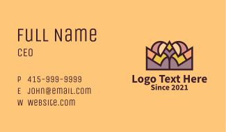 Colorful King Crown  Business Card