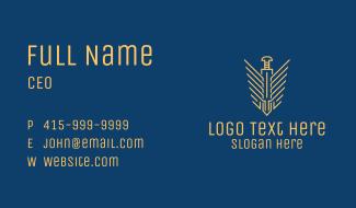 Dagger Wings Emblem Business Card