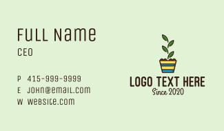Colorful Plant Pot Business Card