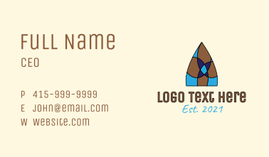 Stained Glass Window Business Card