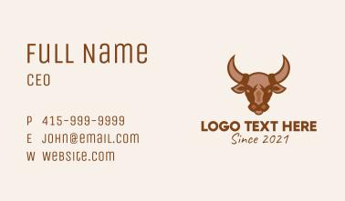 Brown Wild Bull Business Card