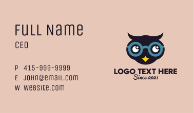 Child Optical Owl Business Card