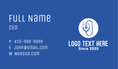 Medical Doctor Check Up Business Card