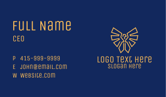 Military Eagle Badge Business Card