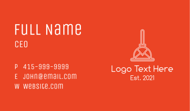 White Mail Plunger  Business Card