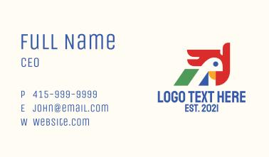 Geometric Parrot Head Business Card