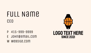 Basketball Wrist Watch Business Card
