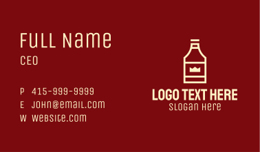 Royal Liquor Bottle Business Card