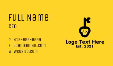 Black Monkey Key Business Card