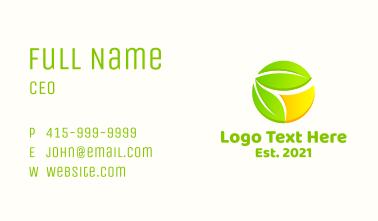 Lemon Fruit Leaves Business Card