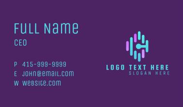 Letter C Music Stream Business Card