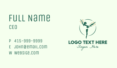 Natural Ballet Dancer Business Card