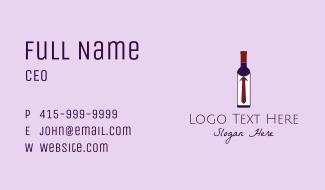 Wine Bottle Tie  Business Card
