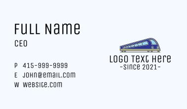 Bullet Train Transportation Business Card