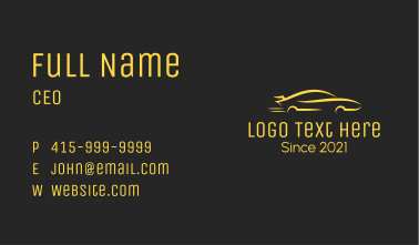 Fast Racing Vehicle  Business Card