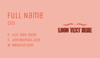 Simple Summer Wordmark Business Card