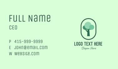 Tree Planting Organic Business Card