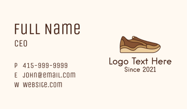 Brown Shoe Business Card