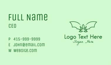 Green Bat Marijuana Business Card