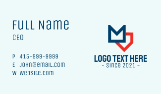 Creative Realty Letter M Business Card