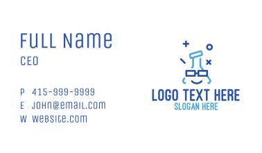 Blue Stroke Flask Business Card