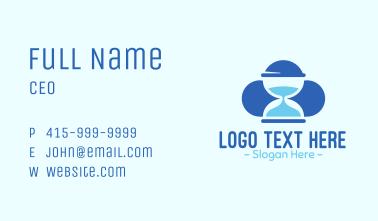 Blue Hourglass Business Card