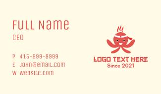 Japanese Octopus Mascot Business Card