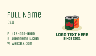 Vegetable Canned Goods Business Card