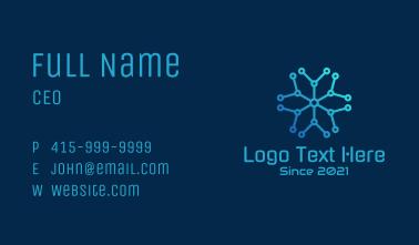 Star Molecule Circuit Business Card