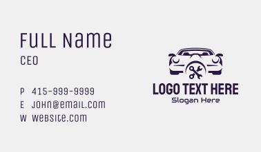Violet Car Repair Shop Business Card