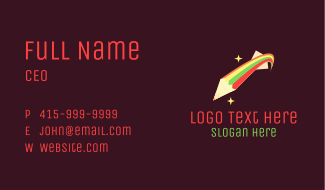 Shooting Star Pencil Business Card